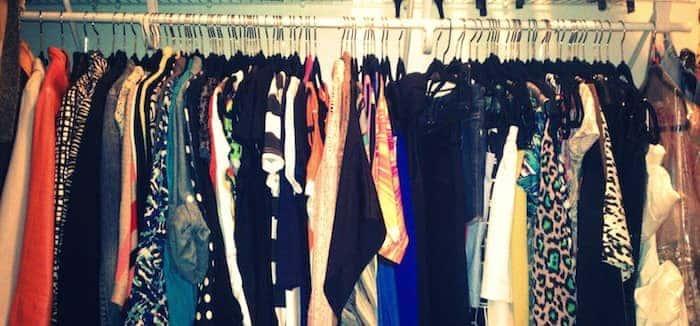 spring cleaning organising wardrobe