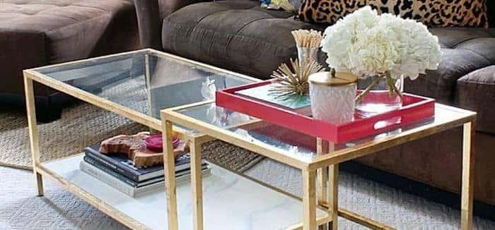 ikea-gold coffee table