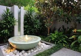 small garden - water