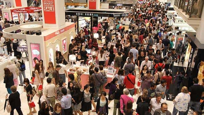 myer boxing day sales
