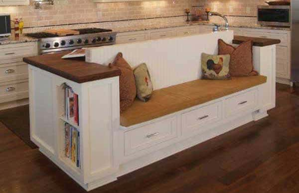 bench kitchen island design