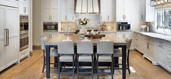 dining table kitchen island design