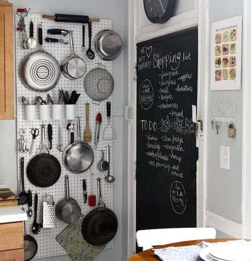 pot storage in small kitchen