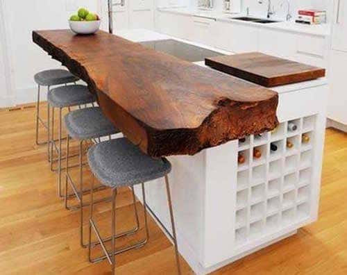 wine rack kitchen island design