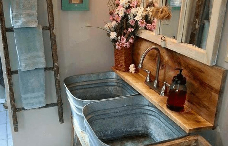 double basin bathroom design