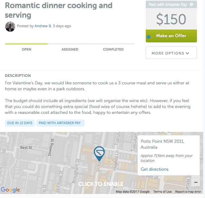 Romantic cooking and dinner serving