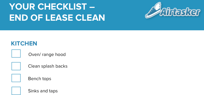 End of Lease Cleaning Guide and Checklist