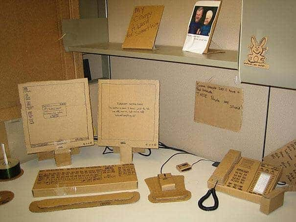 office prank cardboard