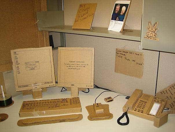 office prank cardboard