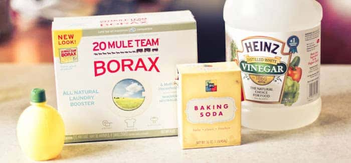 Borax Vinegar Lemon Bakingsoda Cleaning