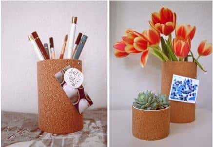 diy-officehacks-cork-vase-container