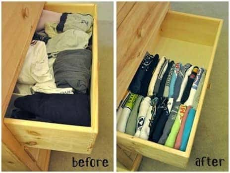 spring cleaning drawers