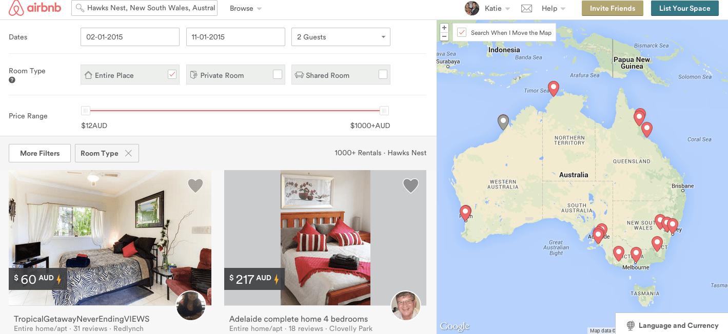 airbnb sydney holidays