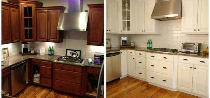 before and after photos of painted kitchen cabinets cheap home renovation ideas airtasker 9888