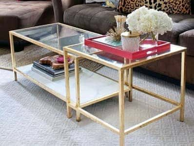 ikea-gold coffee table