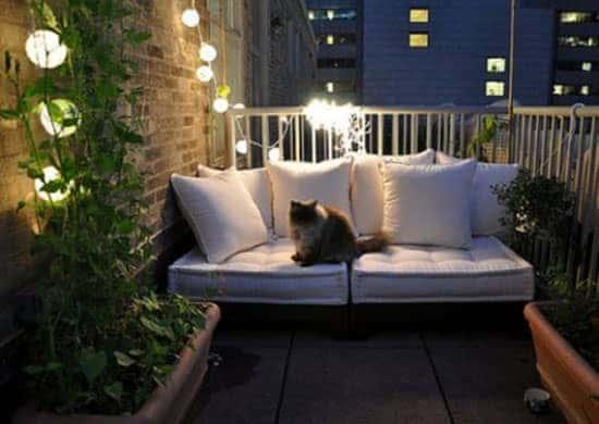 small garden - bench