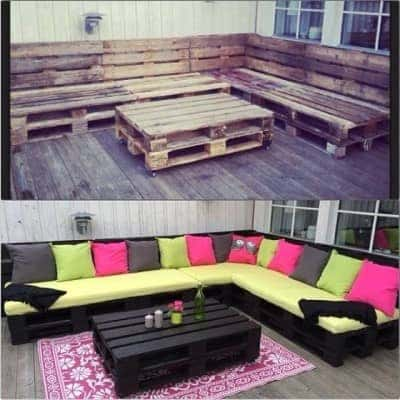 Outdoor-Furniture-Using-Pallets
