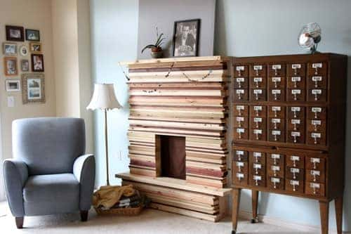 diy-stacked-wood-fireplace-mantel-1