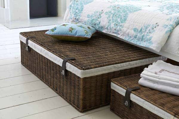 baskets under bed storage