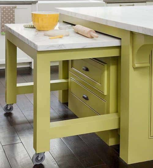 extendable kitchen island design