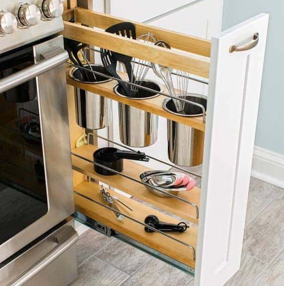 smart storage small kitchen designs