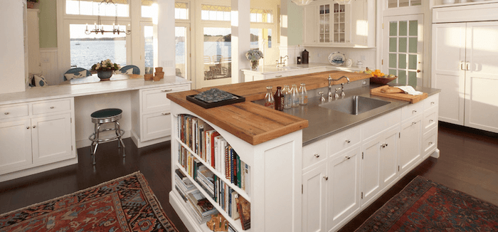 different heights kitchen island design