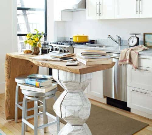 thing rectangle kitchen island design