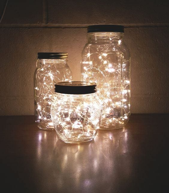 Fairy light glow jars | Airtasker wedding DIY ideas