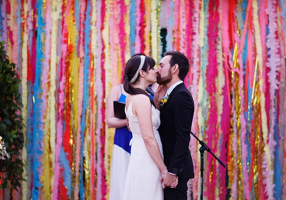 Rainbow backdrop | Airtasker wedding DIY ideas