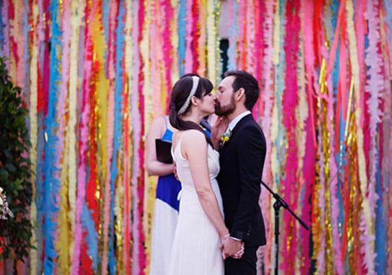 Rainbow backdrop | Airtasker wedding DIY ideas