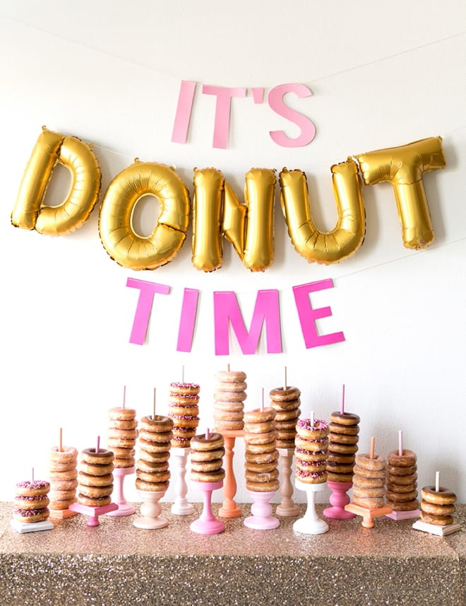 Donut table | Airtasker wedding DIY ideas