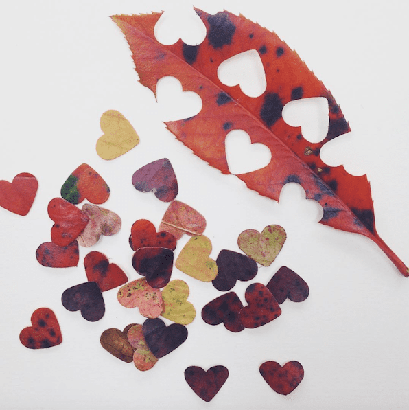 Heart shaped leaf confetti | Airtasker wedding DIY ideas
