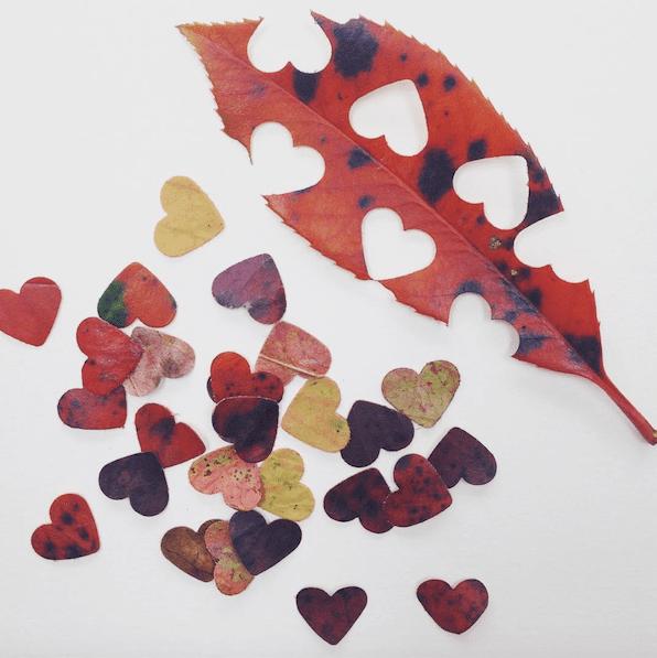 Heart shaped leaf confetti | Airtasker wedding DIY ideas