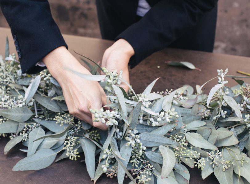 Eucalyptus table runner | Airtasker wedding DIY ideas