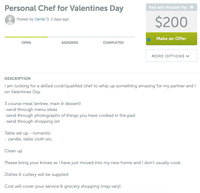 Personal Chef Valentines Day