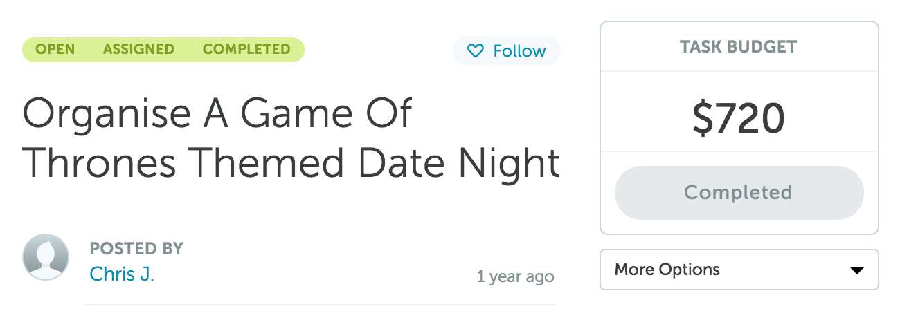 Organise A Game Of Thrones Themed Date Night