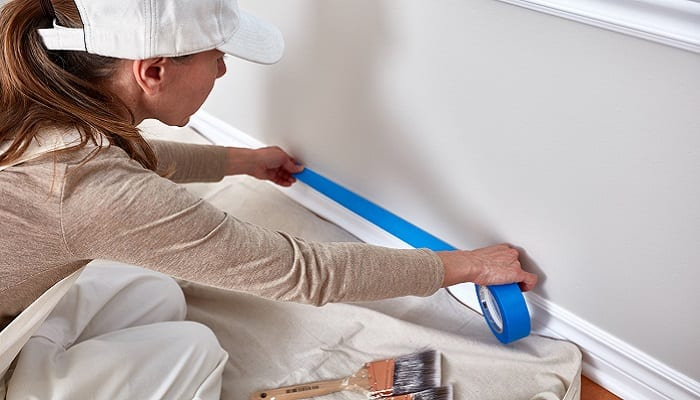 Masking tape painting guide