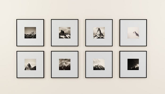 Photo space on the wall