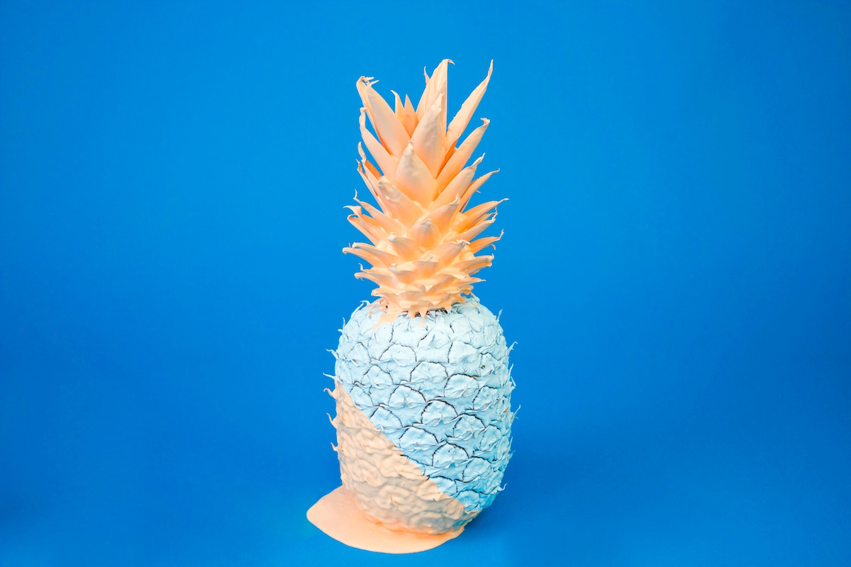 Coloured pineapple