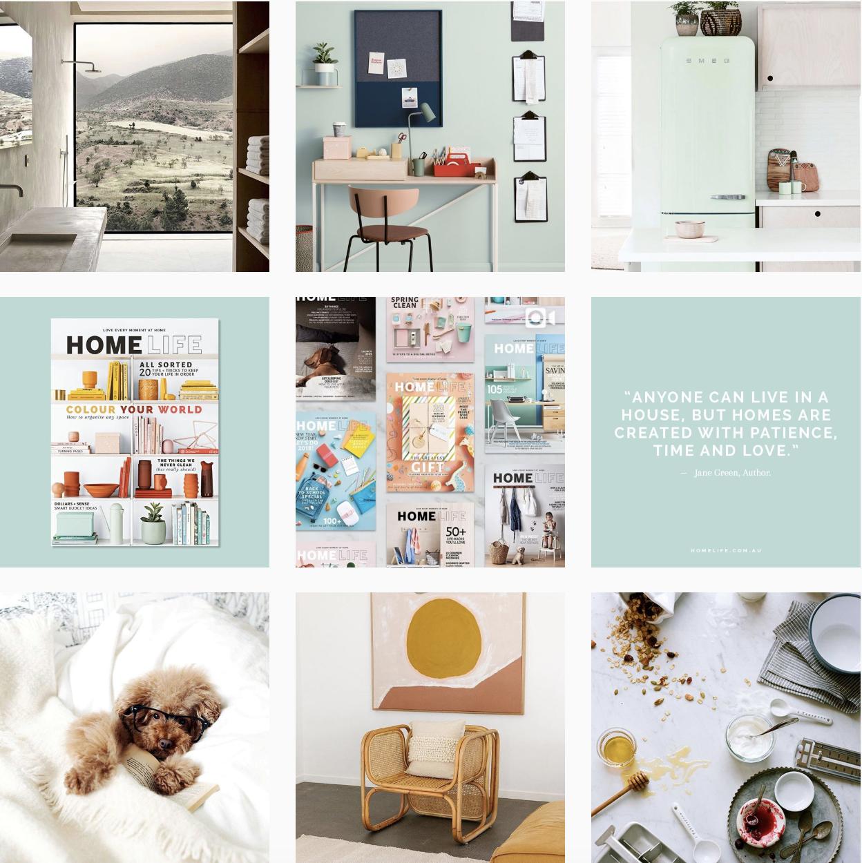Homelife magazine Australia Instagram feed