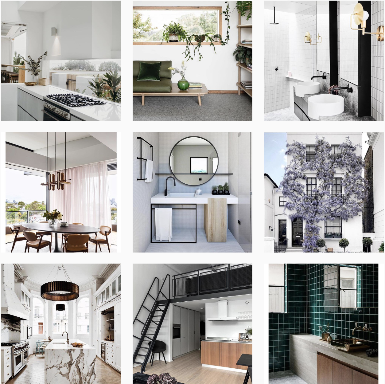 Interior Styling Instagram Feed chic contemporary design