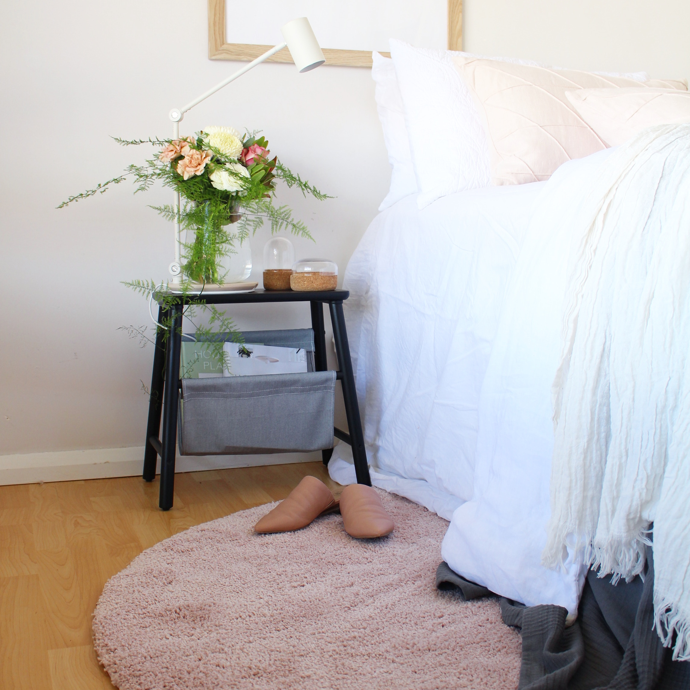 After Scandi style bedroom makeover