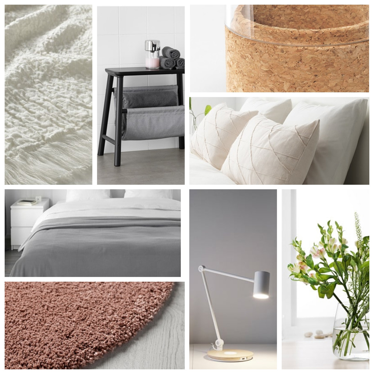 DIY IKEA guest bedroom makeover moodboard