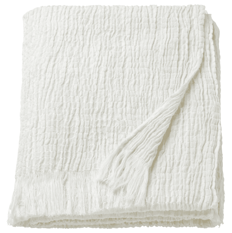 IKEA Mathea white textured throw