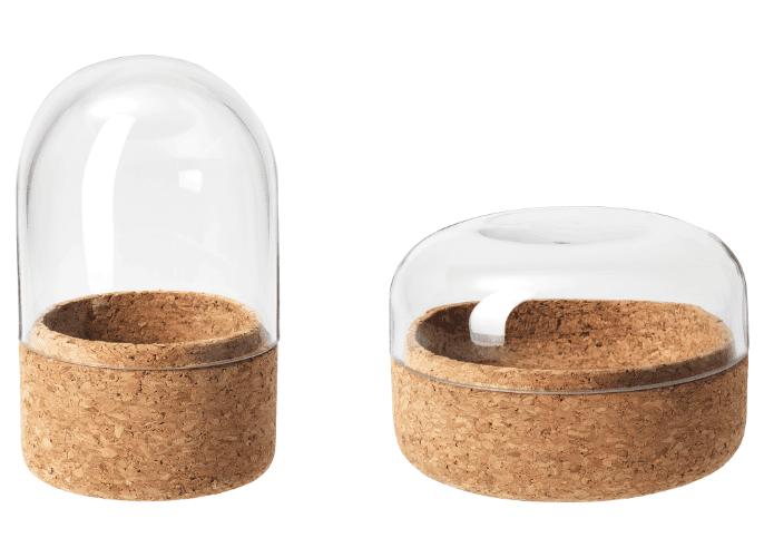 IKEA cork glass box with lid