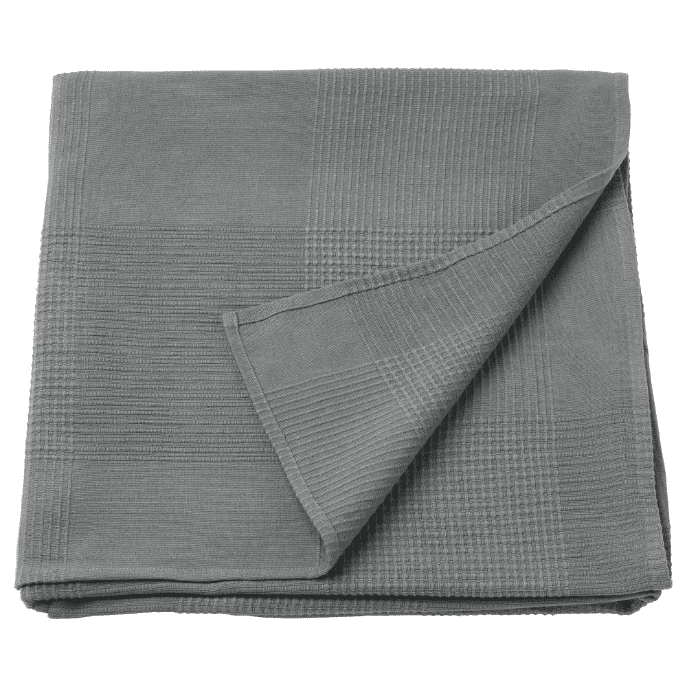 IKEA grey throw blanket