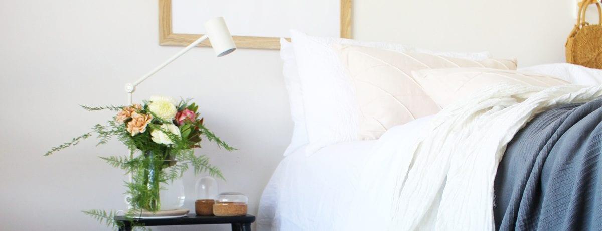 Scandinavian style IKEA bedroom makeover