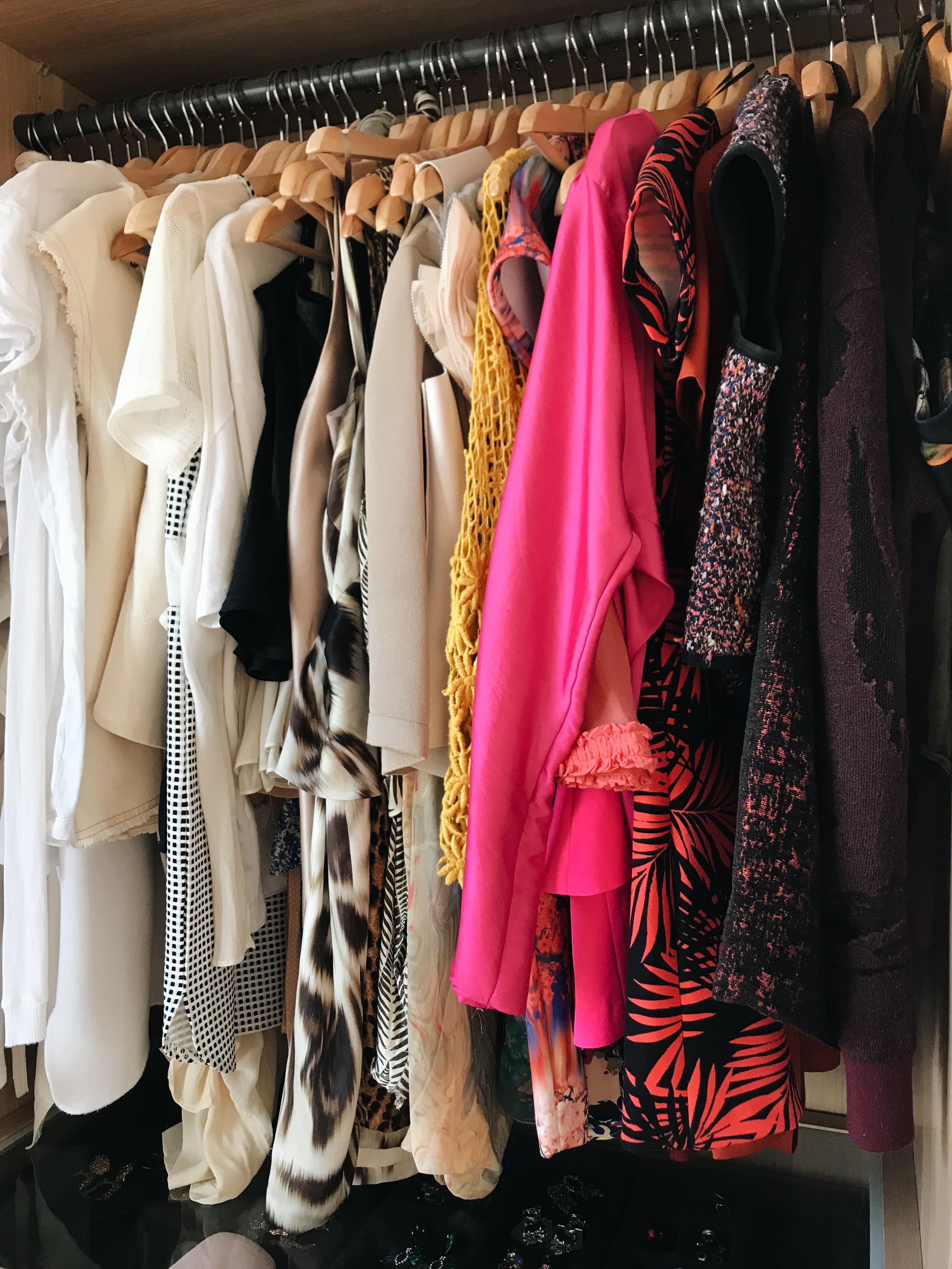 Colour coordinated fashion blogger wardrobe