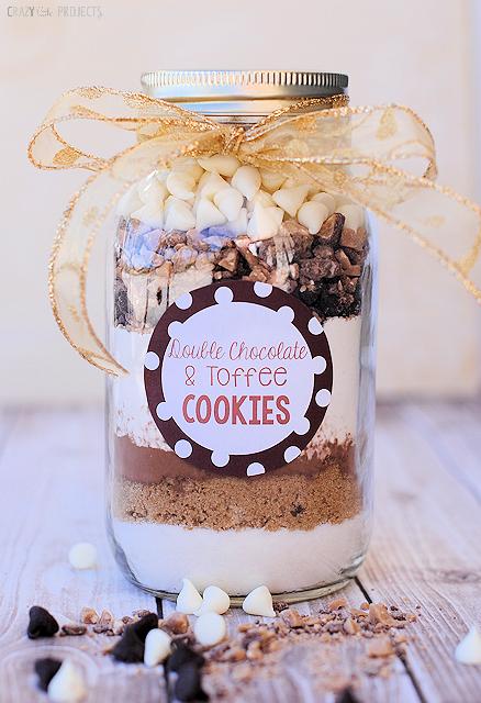 Cookie ingredients in a jar
