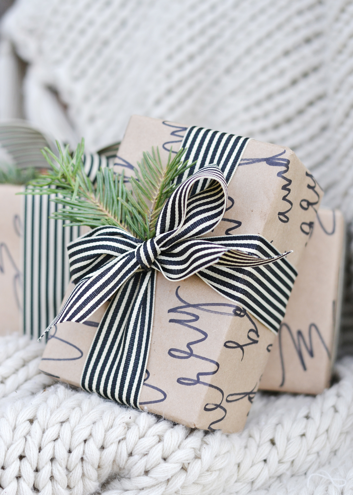 Handwritten wrapping paper